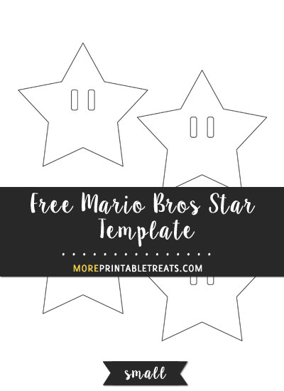 Free Mario Bros Star Template - Small Size
