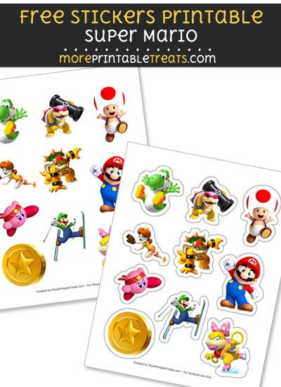 FREE Mario Bros Sticker Sheet to Print at Home