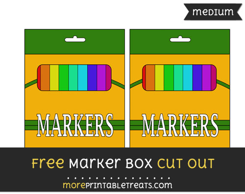 Free Marker Box Cut Out - Medium Size Printable