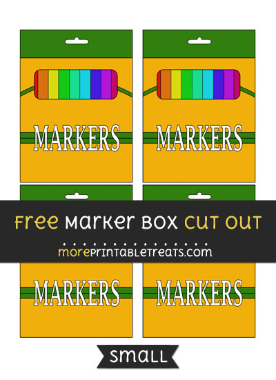Free Marker Box Cut Out - Small Size Printable