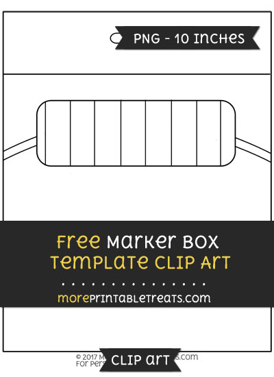 Free Marker Box Template - Clipart