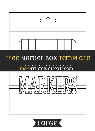 Free Marker Box Template - Large