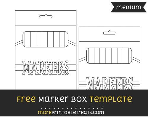 Free Marker Box Template - Medium