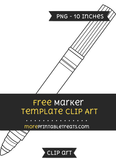 Free Marker Template - Clipart