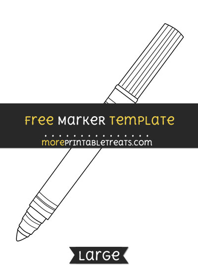 Free Marker Template - Large