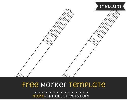 Free Marker Template - Medium