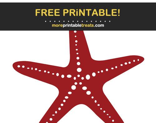 Free Printable Maroon Starfish