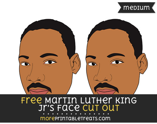 Free Martin Luther King Jrs Face Cut Out - Medium Size Printable