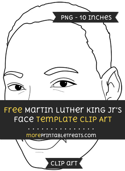 Free Martin Luther King Jrs Face Template - Clipart