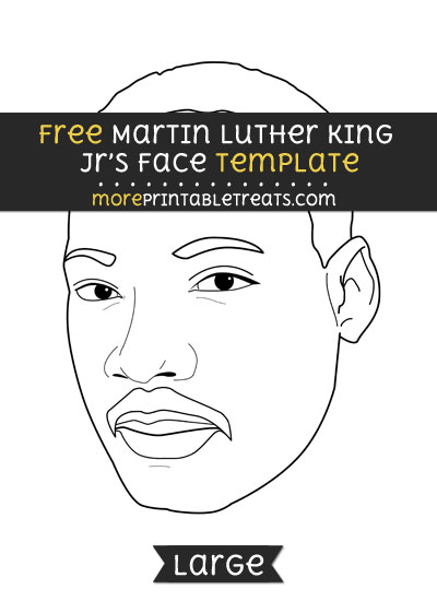 Free Martin Luther King Jrs Face Template - Large
