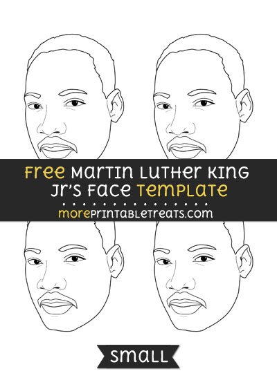 Free Martin Luther King Jrs Face Template - Small