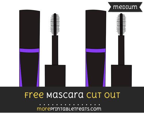 Free Mascara Cut Out - Medium Size Printable