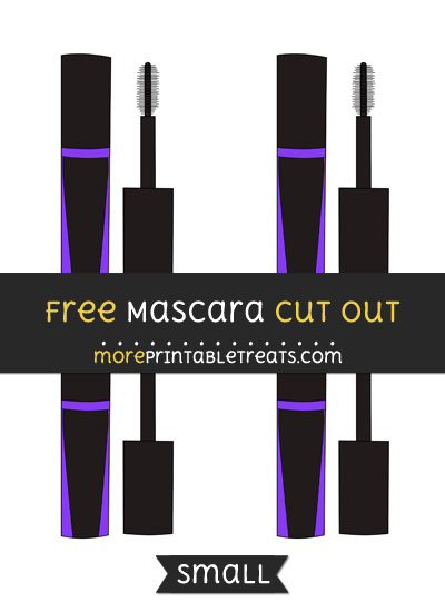 Free Mascara Cut Out - Small Size Printable