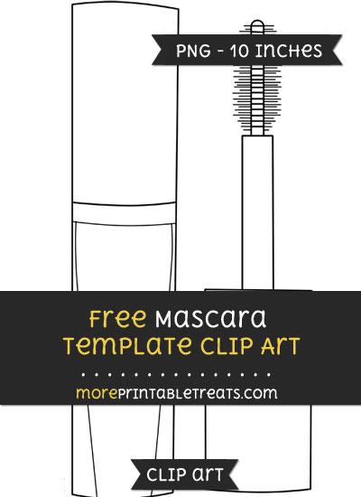 Free Mascara Template - Clipart