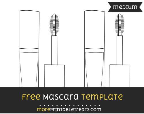 Free Mascara Template - Medium