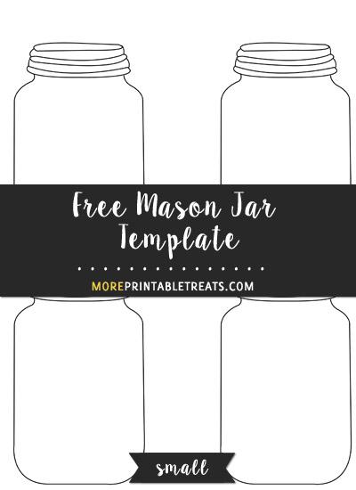 Free Mason Jar Template - Small