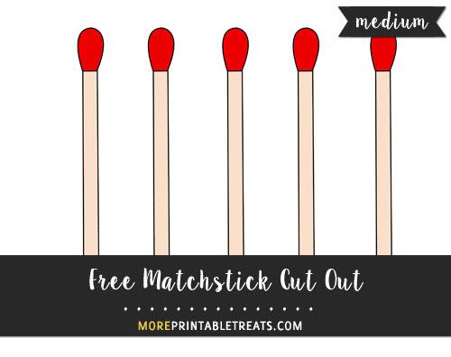 Free Matchstick Cut Out - Medium