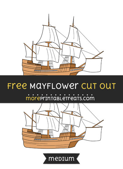 Free Mayflower Cut Out - Medium Size Printable