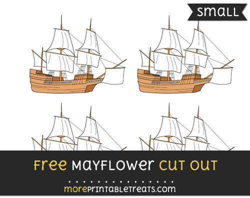 Free Mayflower Cut Out - Small Size Printable