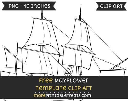 Free Mayflower Template - Clipart
