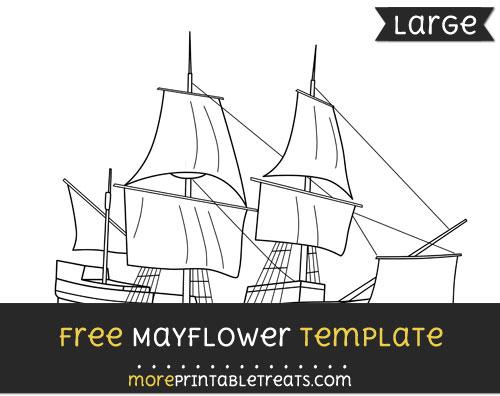 Free Mayflower Template - Large