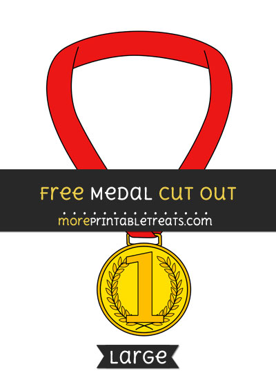Free Medal Cut Out - Large size printable