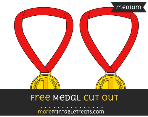 Free Medal Cut Out - Medium Size Printable