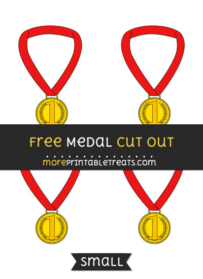 Free Medal Cut Out - Small Size Printable