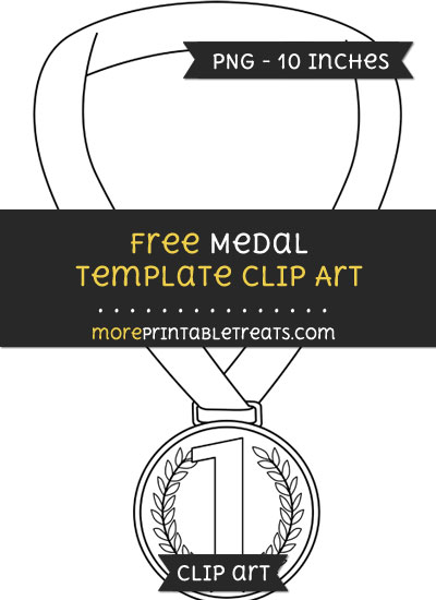 Free Medal Template - Clipart