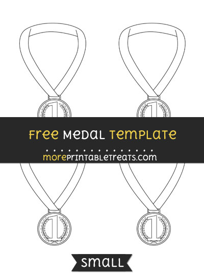 Free Medal Template - Small