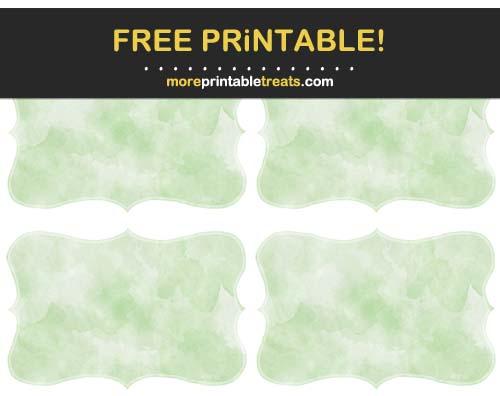 Free Printable Melon Green Watercolor Curvy Labels
