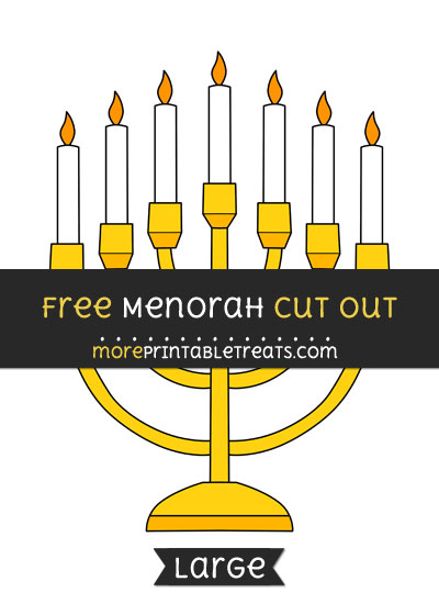Free Menorah Cut Out - Large size printable