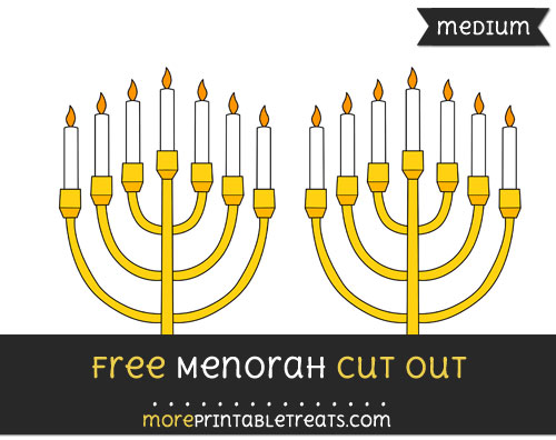 Free Menorah Cut Out - Medium Size Printable