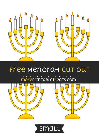 Free Menorah Cut Out - Small Size Printable