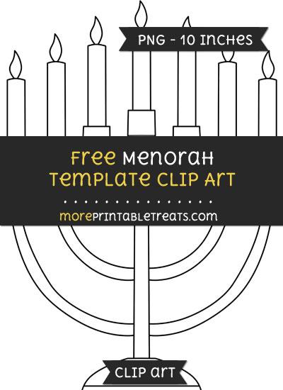 Free Menorah Template - Clipart