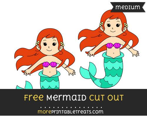 Free Mermaid Cut Out - Medium Size Printable