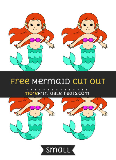 Free Mermaid Cut Out - Small Size Printable
