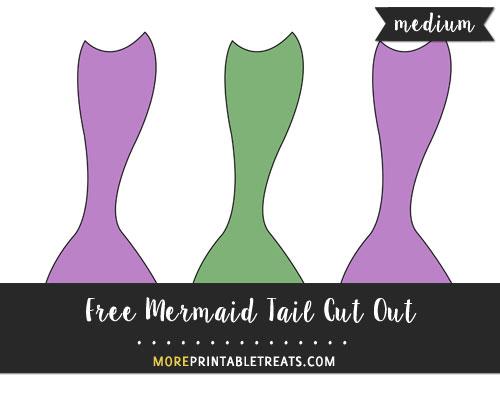 Free Mermaid Tail Cut Out - Medium