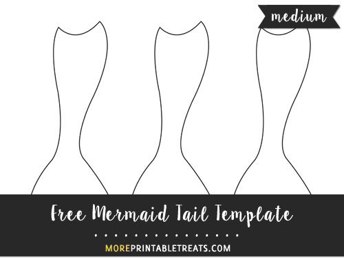 Free Mermaid Tail Template - Medium Size