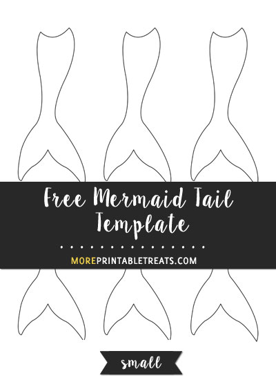Free Mermaid Tail Template - Small Size