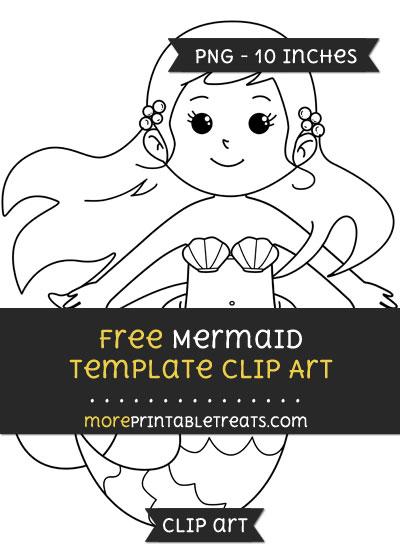 Free Mermaid Template - Clipart