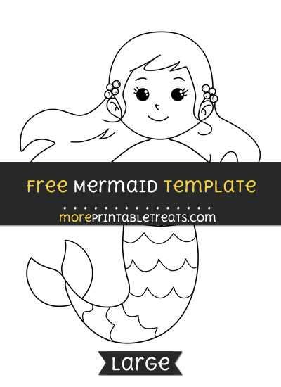 Free Mermaid Template - Large