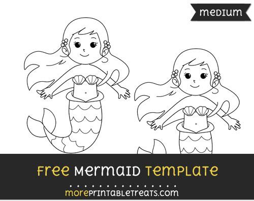 Free Mermaid Template - Medium