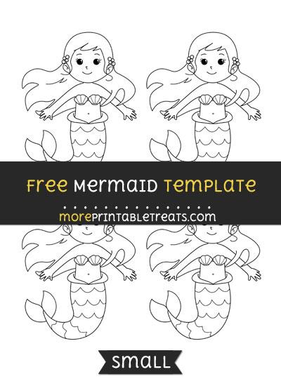 Free Mermaid Template - Small