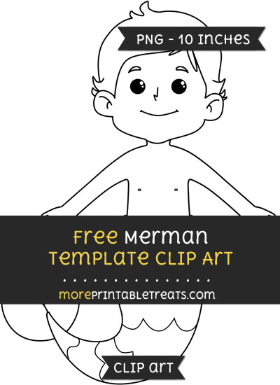 Free Merman Template - Clipart