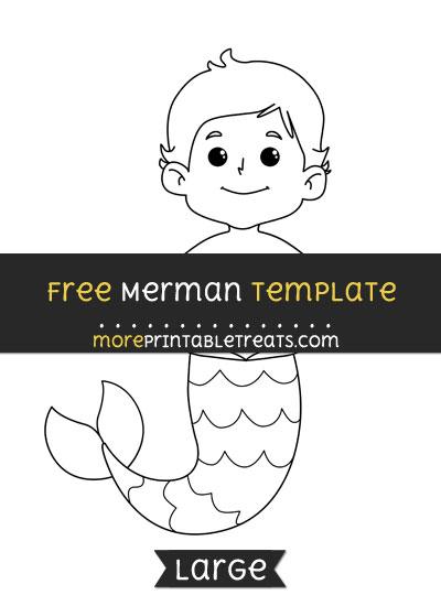Free Merman Template - Large