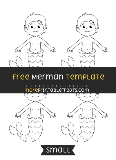 Free Merman Template - Small