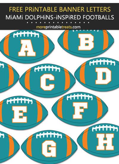 Free Printable Miami Dolphins-Inspired Football Alphabet