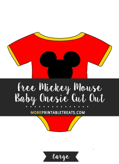 Free Mickey Mouse Baby Onesie Cut Out - Large