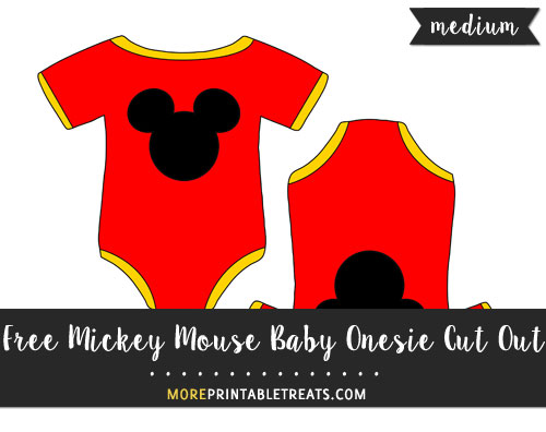 Free Mickey Mouse Baby Onesie Cut Out - Medium